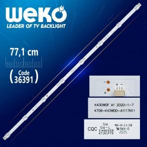 K430WDF A1  4708-K43WDD-A1117N11 8 LEDLİ 77.1 CM