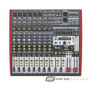 KÖNİG K-1201FX 12 KANAL USB-BT-9 BANT EQ DECK MIXER