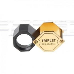 Kuyumcular için Sekizgen Katlanır Cep Büyüteç 20x 20.5mm