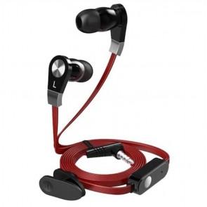Langston JM02 Mikrofonlu Kulak İçi Kulaklık Düz Kablo - Kırmızı