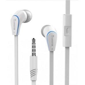 Langston JM12 Mikrofonlu Kulak İçi Telefon Kulaklığı Düz Kablo - Beyaz