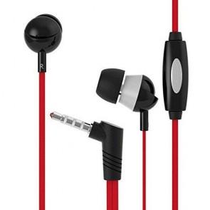Langston Q3 Mikrofonlu Kulakiçi 3.5mm Stereo Telefon Kulaklığı Kırmızı