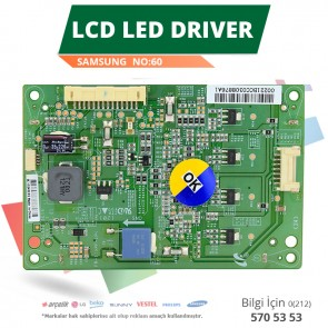 LCD LED DRİVER SAMSUNG (SSL320_0E1A REV0.1) (LTA320AN12) (NO:60)