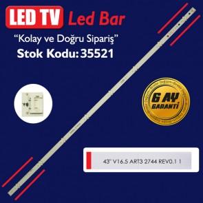 LED TV LEDLERİ 43 V16.5 ART3 2744 REV0.1 1 6916L-2744A 84 CM 8 LED / CSP_43_UHD_8LED_REV01_180910
