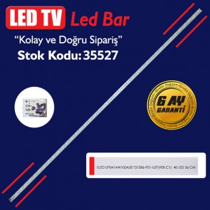 LED TV LEDLERİ ELED UP041AW100A20 T315B6-P01-L07[VER.C1)  40 LED 36 CM