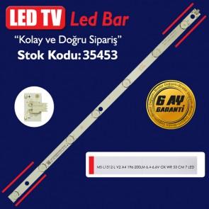 LED TV LEDLERİ MS-L1312-L V2 A4 196-200LM 6.4-6.6V OX WR 53 CM 7 LED