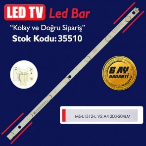 LED TV LEDLERİ MS-L1312-L V2 A4 200-204LM 6.4-6.6V OX WR 53 CM 7 LED