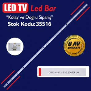 LED TV PANEL LEDLERİ DLED MS-L1312 V3 204-208 LM 107 CM 14 LEDLİ