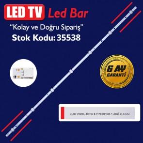 LED TV PANEL LEDLERİ DLED VESTEL 43FHD B-TYPE REV08 7 LEDLİ 61.5 CM
