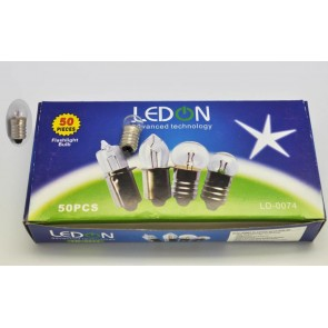 Ledon LD-0074 Fener Ampül 1.5v E10 Vidalı