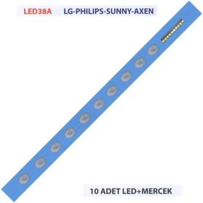 LG PHILIPS SUNNY AXEN 10 Adet Tv Led + Mercek