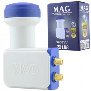 MAG Çiftli LNB Altın Uç Sharp Chip 0.1DB