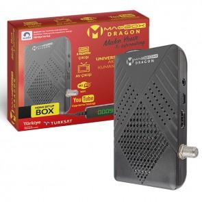 MAGBOX DRAGON FULL HD YOUTUBE USB MİNİ HD UYDU ALICISI TKGSLİ (DISPLAY GÖZLÜ/KUMANDA-8525)(WİFİ 17287)