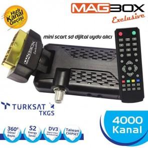 Magbox Exclusive Mini Uydu Alıcısı Scart Tipi