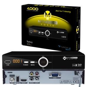 MAGBOX FORTE FULL HD USB PVR KASALI UYDU ALICISI TKGSLİ (HDMI-RCA)