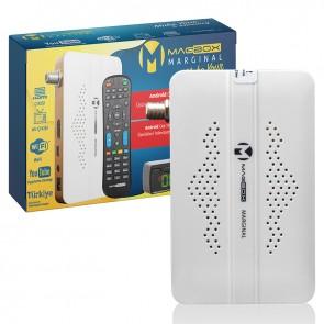 MAGBOX MARGINAL FULL HD + USB MİNİ HD UYDU ALICISI TKGSLİ*YOUTUBE (DSPLAY GÖZ TUŞLU)