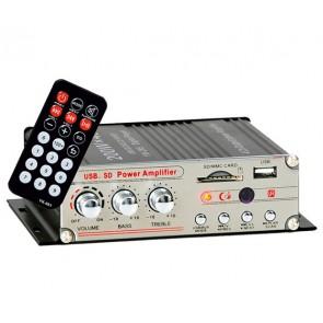 MAGIC VOICE ASANSÖR - MOTOSİKLET MİNİ ANFİ 200W 4 KANAL UK/ USB/SD