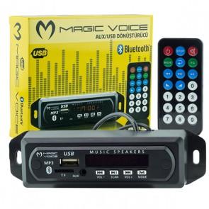 MAGICVOICE USB-400 BLUETOOTH/AUX USB/SD/MMC KUMANDALI OTO TEYP ÇEVİRİCİ DİJİTAL PLAYER