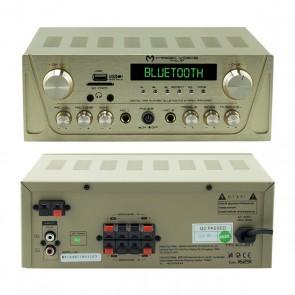 MAGICVOICE MV-104BT-MİNİ-2X80 WATT USB/SD/BT/2 BÖLGELİ 4 HOPARLÖR ÇIKIŞLI TRAFOSUZ ANFİ