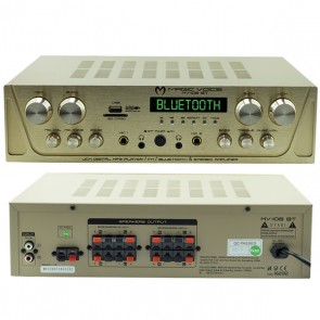 MAGICVOICE MV-108BT 8X80 WATT USB/SD/BLUETOOTH 4 BÖLGELİ 8 HOPARLÖR ÇIKIŞLI TRAFOSUZ ANFİ