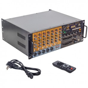 MAGICVOICE MV-1215 KÜP MİXER ANFİ USB BT UK RMS200W MAX 1600W 6 ZON +99DSP+4-16 70 100 V TRAFOLU