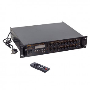 MAGICVOICE MV-1218 USB BT-UK 6 ZON ANFİ RMS 80W*1CH MAX 650W +4-16-70-100V TRAFOLU