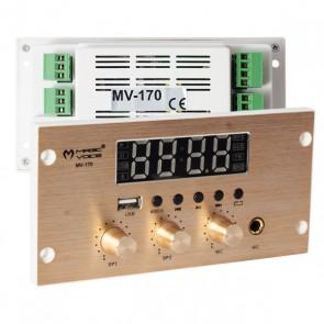 MAGICVOICE MV-170 -4X25W-USB-BT-MİC GİRİŞLİ-MUSİC KONTROL CİHAZI-