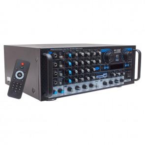 MAGICVOICE MV-550 2X100 WATT USB/SD/UK BALANS BT/FM 4 MİK. GİRİŞLİ 4 HOP. ÇIKIŞLI STREO KÜP MİXER TRAFOSUZ ANFİ