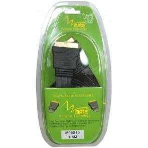 Mate MP-5215 Altın Uçlu Scart Scart Kablo 1.5Mt