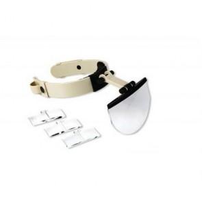 MG81003 Işıklı Kafa Büyüteci (1.2X 3.8X 4.5X 5.5X) 4 Lensli