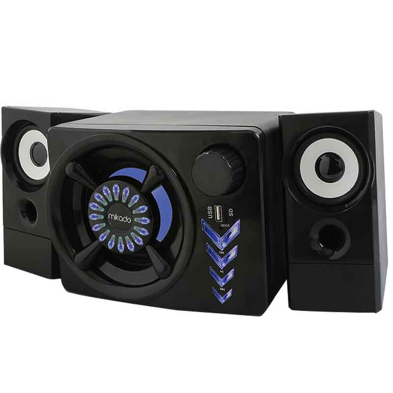 MIKADO MD-219BT 2+1 10W+3W*2 SİYAH USB-TF-BLUETOOTH DESTEKLİ SPEAKER
