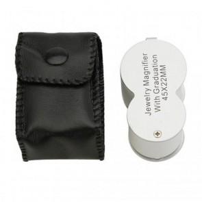NO.9583 Led Işıklı Lüp Büyüteç 45X Büyütme 22mm