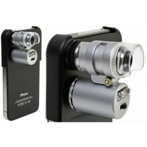 NO.9882-IP2 Cep Telefonu Mikroskopu 60x Büyütme iPhone 4 İçin