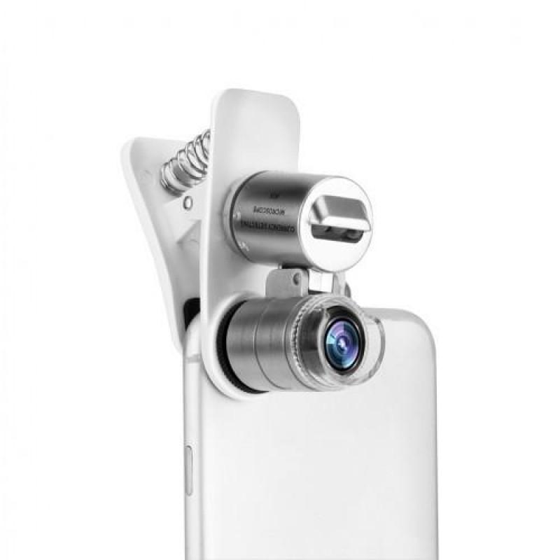 Tüm Kameralı Telefonlar İçin Led Işıklı Mini Cep Mikroskobu