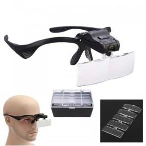 NO.9892B 5 Farklı Lensli Gözlük Tipi Büyüteç(1X,1.5X,2X,2.5X,3.5X)