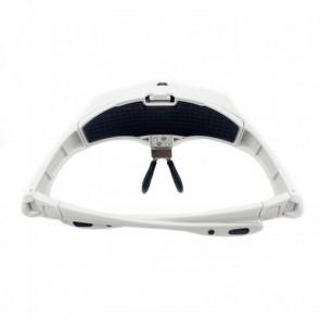 NO.9892B2 Gözlük Tipi Büyüteç 2 Led Işıklı (5 Farklı Lens 1x-3.5x)