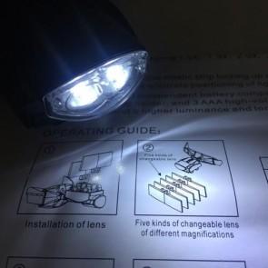 NO.9892C Çok Fonksiyonlu Kafa Aydınlatıcılı Büyüteç (2 Led 5 Lens)