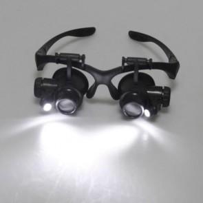 Tamirci İçin Led Işıklı Gözlük Tipi Büyüteç 10x 15x 20x 25x