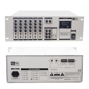 NO-TEL NOT-A-2200BTT 2X200 W 4-8 /70/100V-USB-6 MİK-6 LINE GİRŞ EKO ÇİFT ÇIKIŞLI USB/SD TRAFOLU AN