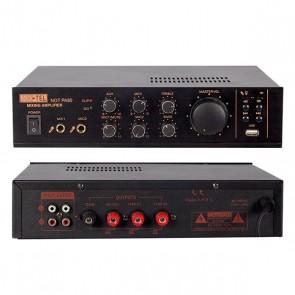 NO-TEL NOT-PA80 MİNİ-80 W USB/SD/BLUETOOTH/UK -4-16-70.100V-2-MİK-GRŞ-TRAFOLU ANFİ
