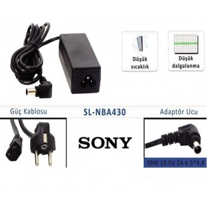 NOTEBOOK ADAPTÖR SL-NBA430 SONY 19.5V/2A 6.5*4.4 UÇ