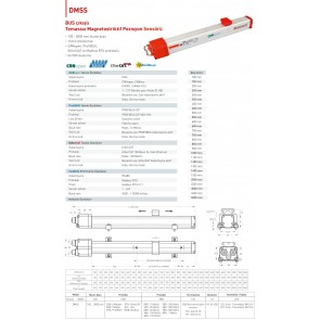 OPKON DMSS EtherCAT BUS Çıkışlı Temassız Pozisyon Sensörü 650 mm