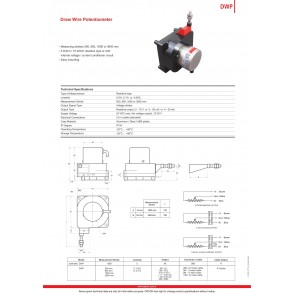 Opkon DWP İpli Potansiyometre Elektronik Çıkışlı 500 mm