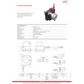 Opkon DWP İpli Potansiyometre Elektronik Çıkışlı 900 mm