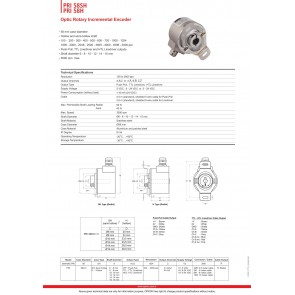 Opkon PRI 58SH Optik Rotary İnkremental Enkoder Pulse 1800 - 2500 ppr