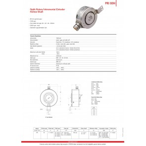Opkon PRI 80H Optik Rotary İnkremental Enkoder Hollow Shaft 1024 ppr