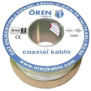 Ören Kablo Rg59 Fa Mini U4 Kablo (100Mt)