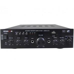 OSAWA AV-215 2X100 WATT USB-220V-12V GİRİŞLİ ANFİ (BAS*TİS*BALANS-K-805U