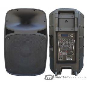 OSAWA OSW-1812A PORTATİF-SEYYAR-ANFİ (ÇİFT KANAL VHF*AKÜLÜ*USB+SD) 30CM