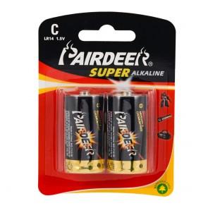 Pairdeer LR14/C Size Alkaline Pil - 2li Blister